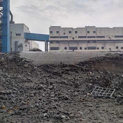 唐山赛德热电有限公司210m烟囱控制爆破